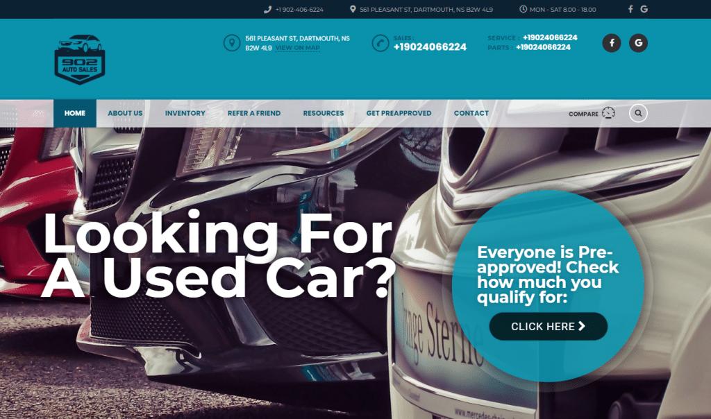 902 Auto Sales Website | Puppetbrush.com | 902auto.com