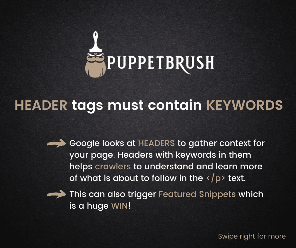 Header Tags and How to Optimize them | Puppetbrush