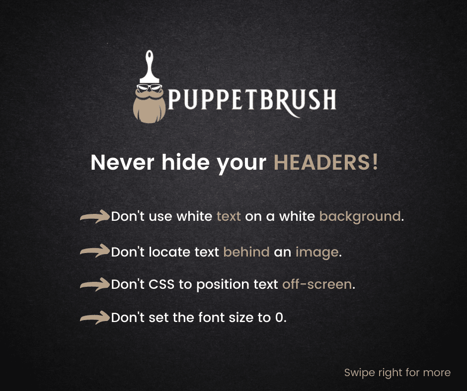 Headers is SEO and Best Practices | Puppetbrush
