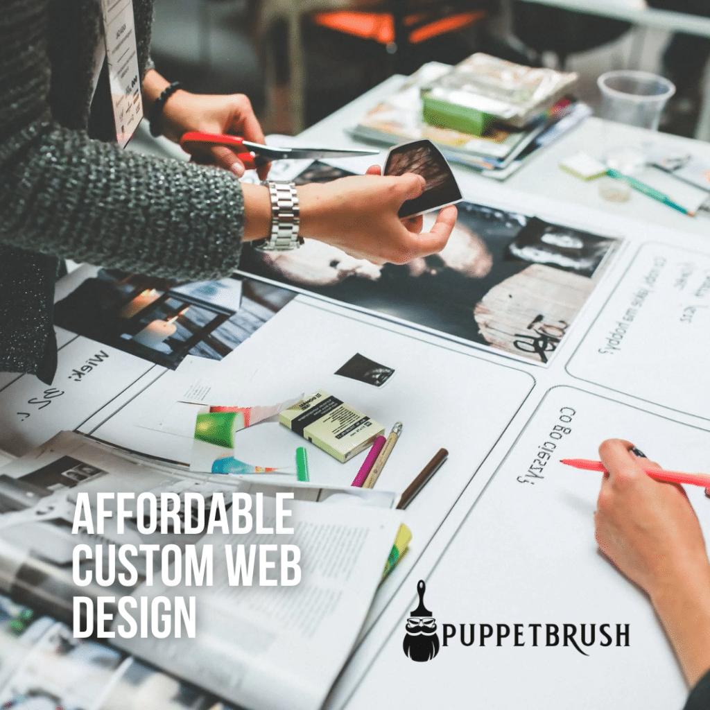 Affordable custom web design   Puppetbrush